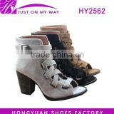 NEW! HOT! Fashion Peep Toe boots ankle boots for women
