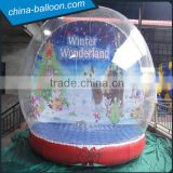 clear inflatable snow globe,Christmas snow globe for decoration,giant inflatable human snow ball