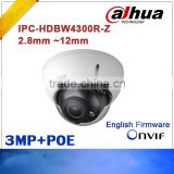 Original dahua IPC-HDBW4300R-Z 2.8mm ~12mm VF motorized lens network POE IR IP dome camera 3MP network camera