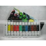 12 Colors Artist Oil Resistant Paint Set ,Non-toxic pigment Art Supply
