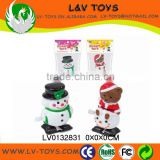 Promotion plastic christmas toy wind up snowman for kids