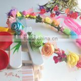 Wedding Indian Artificial Flower Bridal EVA Flower Head Wreath Head Garland for Festival and Wedding