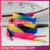 Rainbow Multi-Colors Flat Sports Shoe Laces Shoelaces Strings Strap for Sneakers Unisex 2pcs free shipping