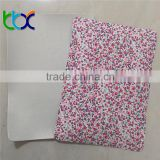 beatiful flower design print polyester fabric Eva coated fabric for shoes making