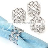 fashion hot sale crystal napkin buckle for wedding decoration