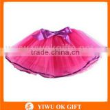 Colorful tutu skirt with bowknot for kids fashion cheap lovely baby girls dancing ballet fashion tutu skirt for girls