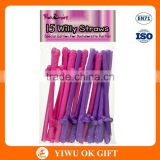 Girls Night Multicolor Bachelorette Party Penis Straw/Willy Straws