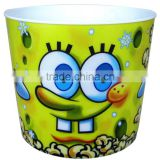 Best Price 3D Lenticular Not Disposable Plastic Popcorn Container Popcorn Bowl