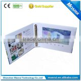 "A4 landscape hard cover paper card 4 colour print 10"" tft lcd screen video folder for Medical industry"