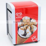 Advertising ice cream printing metal table tissue dispenser , napkin holder box for promotin usage