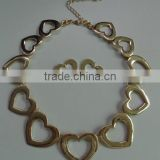 Fashion charm heart short necklace