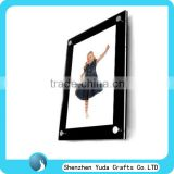 wall mounted black cute girl photo frame can be customized acrylic frame for home decoration acrylic panel picture frame