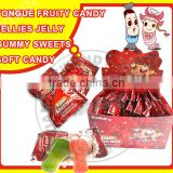 Tongue Fruity candy jellies jelly gummy sweets soft candy