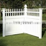 Privacy Arched with Top Picket Fence,portable vinyl fencing, Private Fence, pvc fencing post and rail