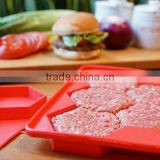 FDA material 510g small silicone square burger press