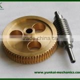 Brass worm gear and precision lead screw, electric water pump spare parts by cnc machining