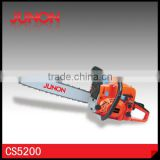 "52cc two-stroke Gardening Chainsaw Gasoline Power with 18"" 20"" 22"" Guide Bar"