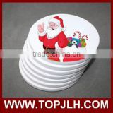 novelty tableware printable sublimation ceramic coaster blanks