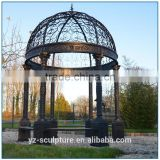 Wholesale antique wrought iron round metal gazebo for sale
