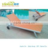 hotel furniture wooden pool chaise lounge