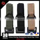 Military tactical army zinc alloy belt buckle pp ribbon or polyester nylon 110cm