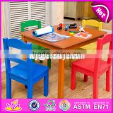 2017 New products wooden activity table for toddlers W08G208