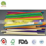 wholesale round long wooden customized colored lollipop stick