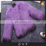 Solid color winter fashion hand made fur overcoat raccoon fur outer wear