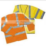 polyester fabric safety reflective coat in summer