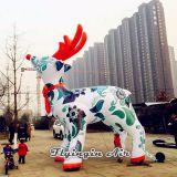 Attractive Outdoor Christmas Decorations White Inflatable Reindeer
