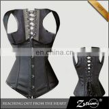 Cheap In Stock Sexy Cool Leather Back Support Corset