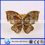 Alloy drill butterfly brooch