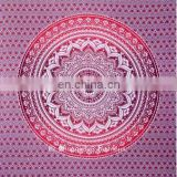High quality bohemian cotton fabric round tapestry Printed Indian Mandala wall hanging eye catching and attractive throw