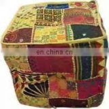 Square Shape Designer Vintage Foot Stool Bean Bag Floor Pillow pouf