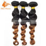 Ombre Two Tone Color Cambodian Virgin Hari Bundles For Making Wig Hair Weaving From Fengye Hair Factory Make Your Own Brand Hair