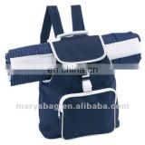 polyester beach bag with flap and buckle closure