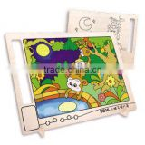 Wooden toy crow DIY drawing board