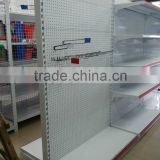 used perforated shelving supermarket perforated shelf with hooks