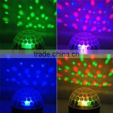 RGB Crystal Magic Rotating Ball Effect LED Crystal Magic Ball Light For KTV Xmas Party Wedding