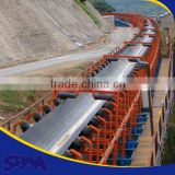 Conveyor belt for stone crusher , adjustable height belt conveyor , 90 degree belt conveyor