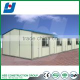 Standard 20ft shipping container office with big glass windows and doors steel structure building