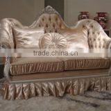 Classical wooden frame beautiful fabric hotel sofa XY2832