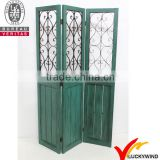 vintage chic ornaments partition wood foldable door screen