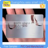 Blank transparent business cards