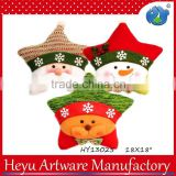 Best Price Wholesale Decorative Pillow & Christmas plush snowman pillow & Five-pointed star cushion