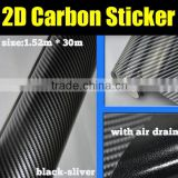 Glossy 2D Carbon Fiber Vinyl Film / Carbon Fiber Sticker Wrapping My Car / Size: 1.52m x 30m