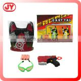 Kids playing plastic toys police play set with EN71