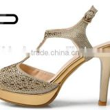 Sexy lady high heel dazzling sandals peep toe women fashion sandals
