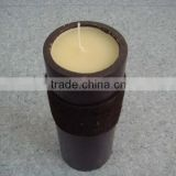 Bamboo Candles with hemp rope