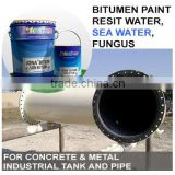 Bitumen Paint for Concrete & Metal industrial tank and pipe, resit water & sea water JONA BITUM